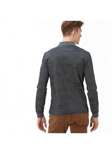 Lacoste Erkek Desenli Sweatshirt PH2042.42Y Gri
